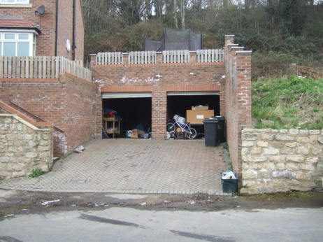 Double garage water ingress britannia presevation for Building a detached garage on a slope